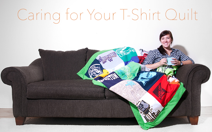 Find out how to care for your custom t-shirt quilt