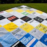 nike company t-shirt quilt