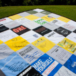 nike company t-shirt quilt